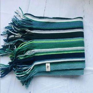 "Smartwool Green 100% Merino Wool Scarf 97x 8"""